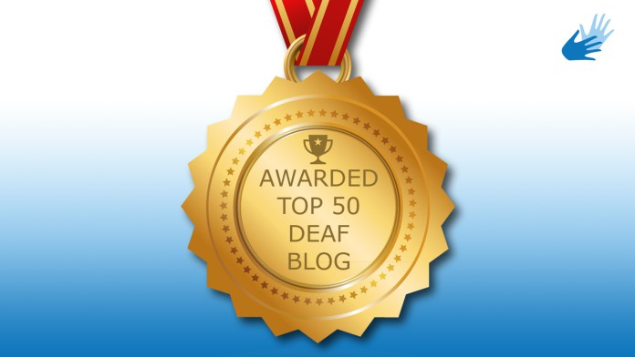 'Top 50 Deaf Blogs' Award!
