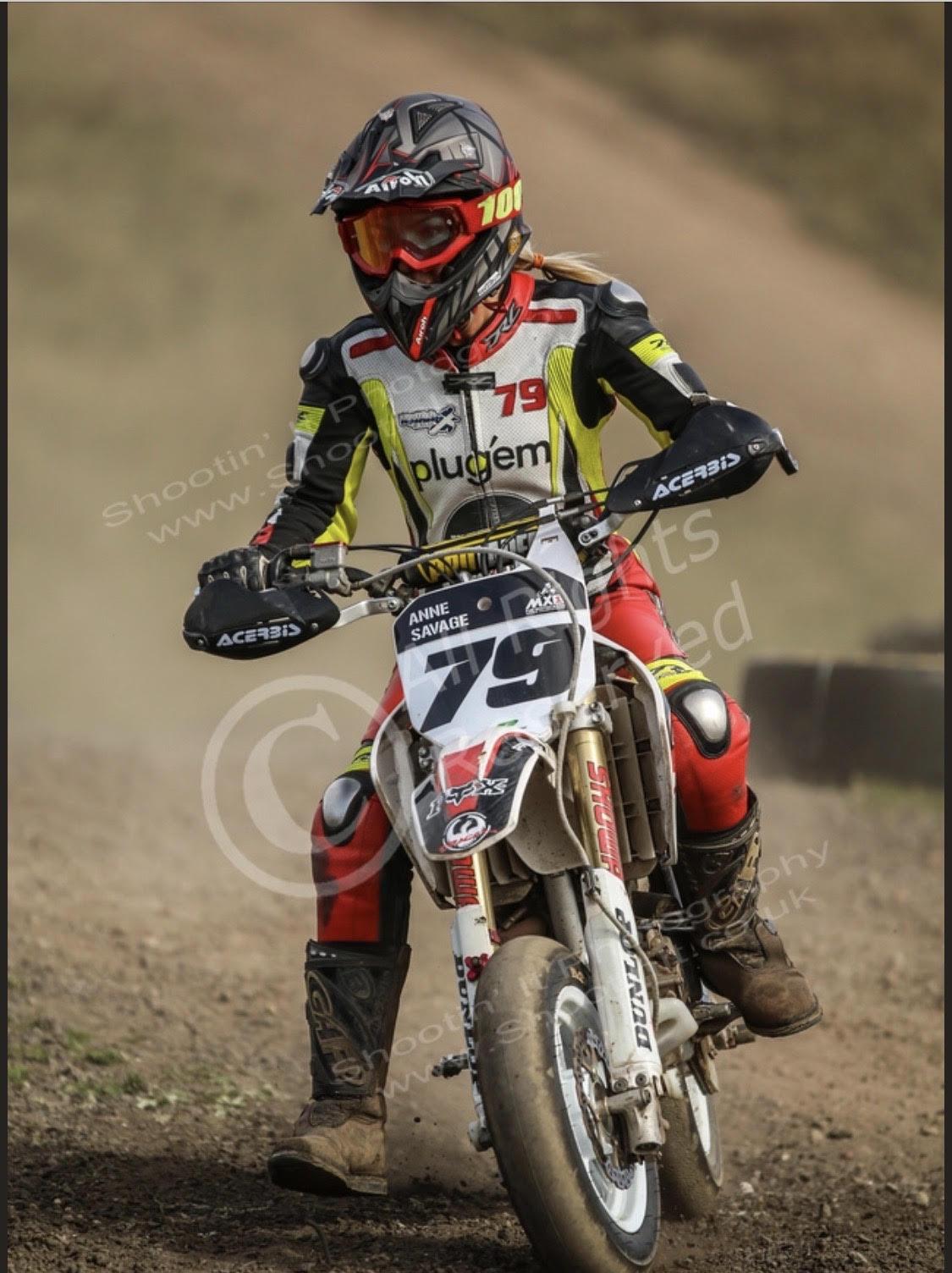 Anne Savage - motorbike