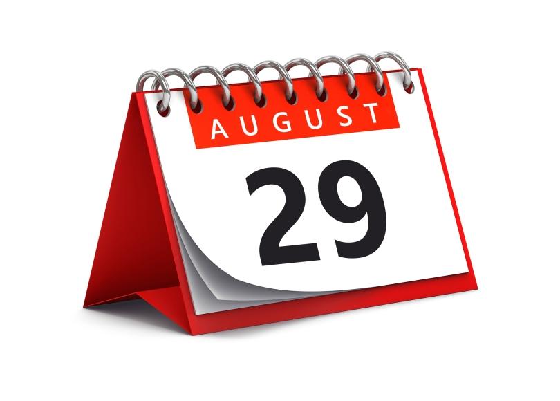 29th August on calendar - hearing loss anniversary